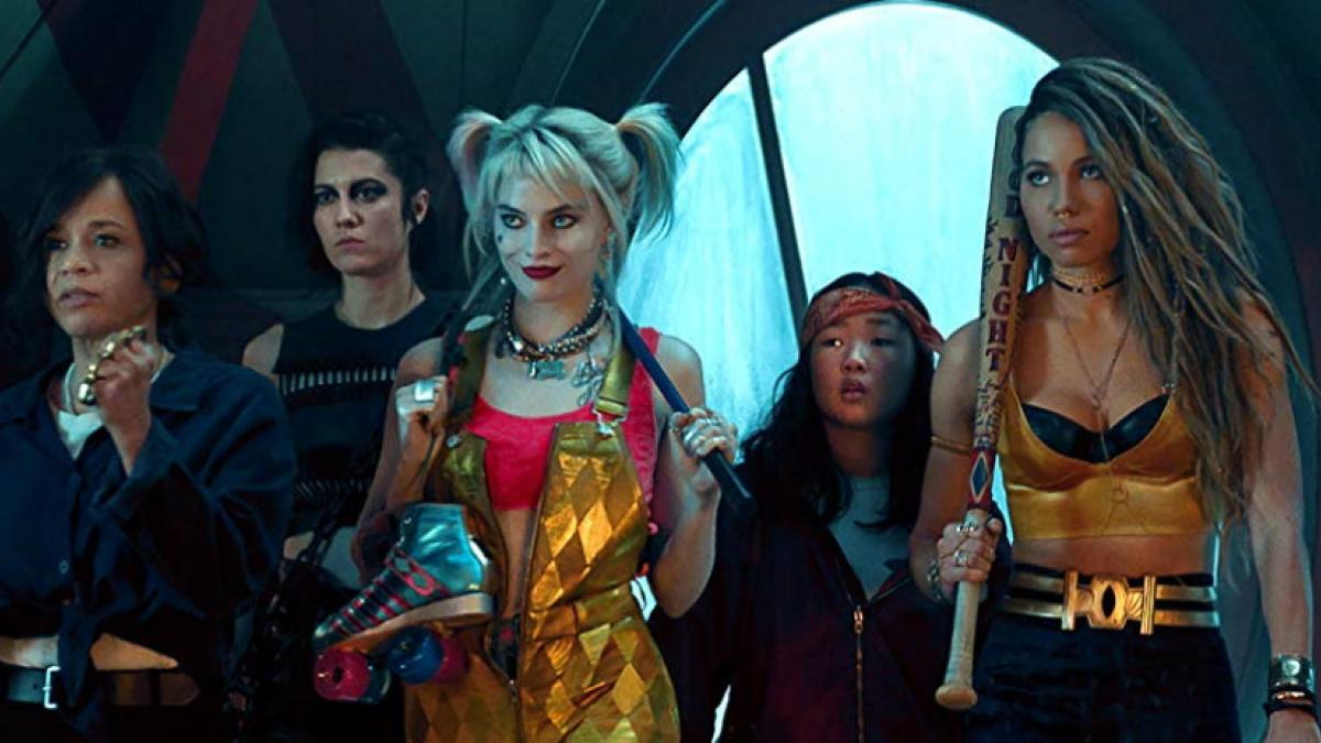 (Left to right) Renee Montoya (Rosie Perez), the Huntress (Mary Elizabeth Winstead), Harley Quinn (Margot Robbie), Cassandra Cain (Ella Jay Basco), and Black Canary (Jurnee Smollett-Bell) band together to face their foes in Cathy Yan's 'Birds of Prey'.