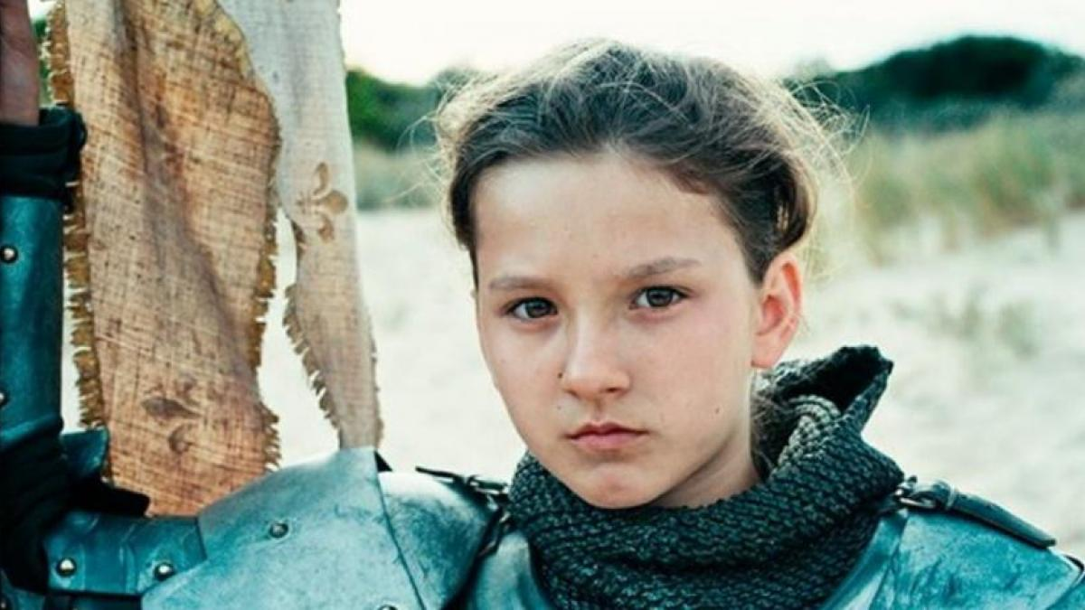 Joan (Lise Leplat Prudhomme) meets her destiny in Bruno Dumont's 'Joan of Arc'.