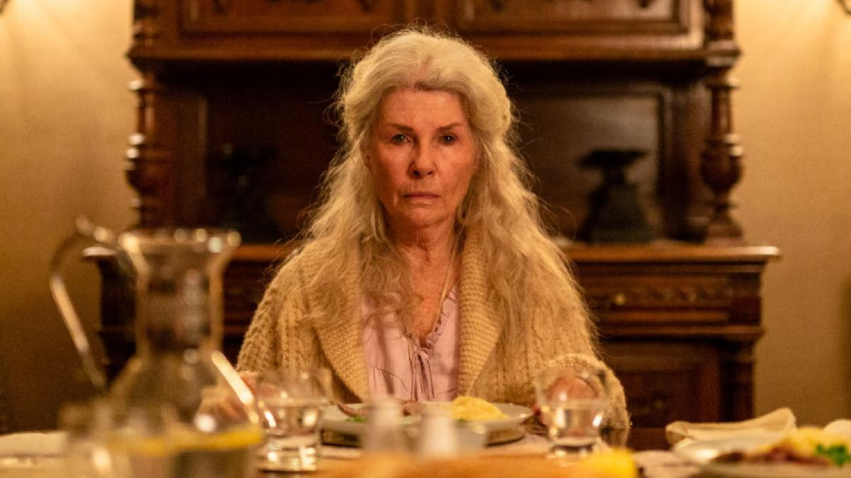 Robyn Nevin is a elderly widow struggling against an invading presence in Natalie Erika James' 'Relic'.