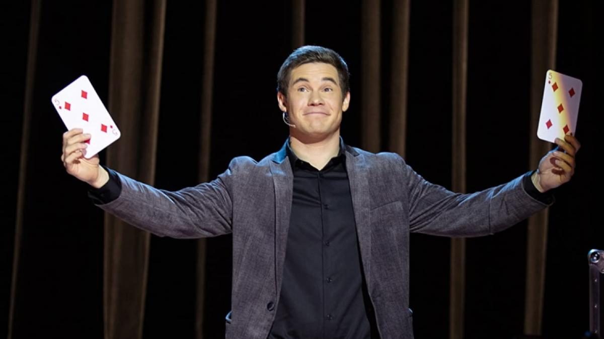 Adam Devine is a struggling stage magician who returns to his roots in Mark Waters' 'Magic Camp'.