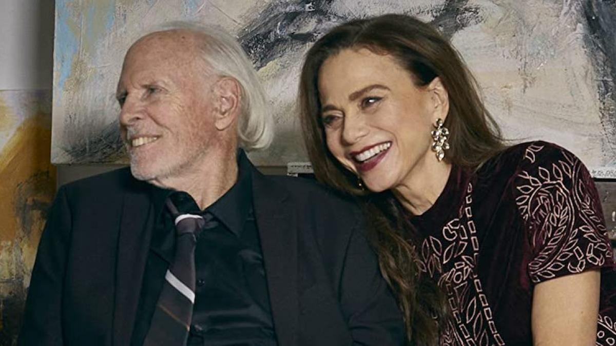 Lena Olin (right) is the wife of a fading art world icon in Tom Dolby's 'The Artist's Wife'.