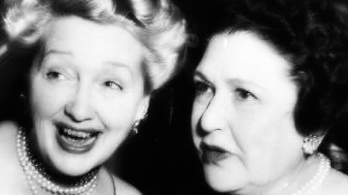 Hedda Hopper and Louella Parsons