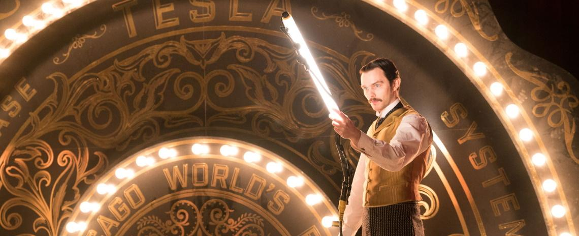 Nikola Tesla (Nicholas Hoult) demonstrates his brilliance in Alfonso Gomez-Rejon's The Current War.
