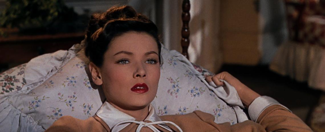 Ellen (Gene Tierney) is a beautiful socialite with monstrous depths in John M. Stahl's 'Leave Her to Heaven'.