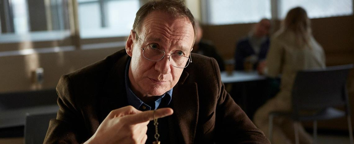 David Thewlis is a public health inspector embroiled in a family mystery in Atom Egoyan's 'Guest of Honour'.